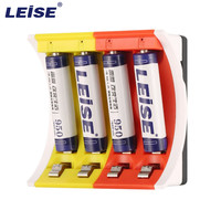LEISE LS U4C 8pcs Rechargeable Batteries 4 Slots Smart Charger With LED Indicator USB Cable AA