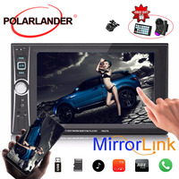 USB/AUX/SD Bluetooth Mirror Link 2 Din MP5 Player 6 inchs Touch Screen 5 languages Remote Control Car Radio