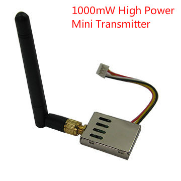 High Quality 1.2GHz 1000mW Mini Long Range Wireless Video Transmitter good for Wireless CCTV System and FPV, Helicopter, Drones