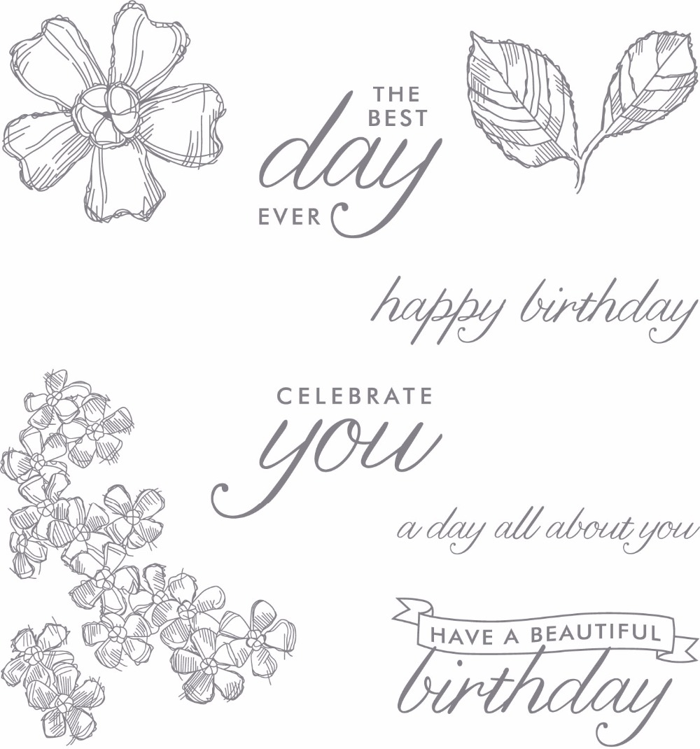 Happy Birthday Flower Clear Stamps Scrapbook Paper Craft Clear stamp scrapbooking YZ1001 сумка braccialini braccialini br001bwzkm85