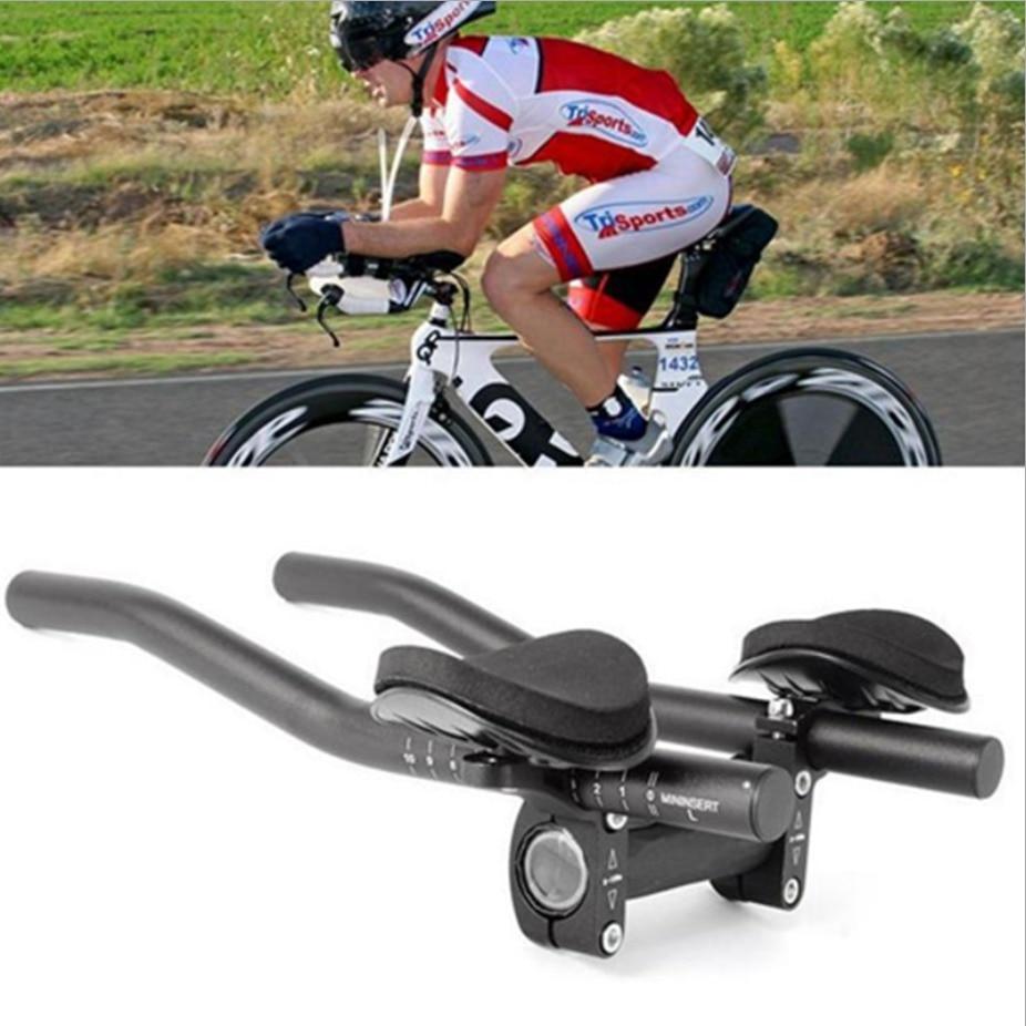 1pair TT Rest Handlebar Lightweight Durable Cycling Bicycle Relaxation Handle MTB Road Bike Arm Rest Bike Aerobar(China)