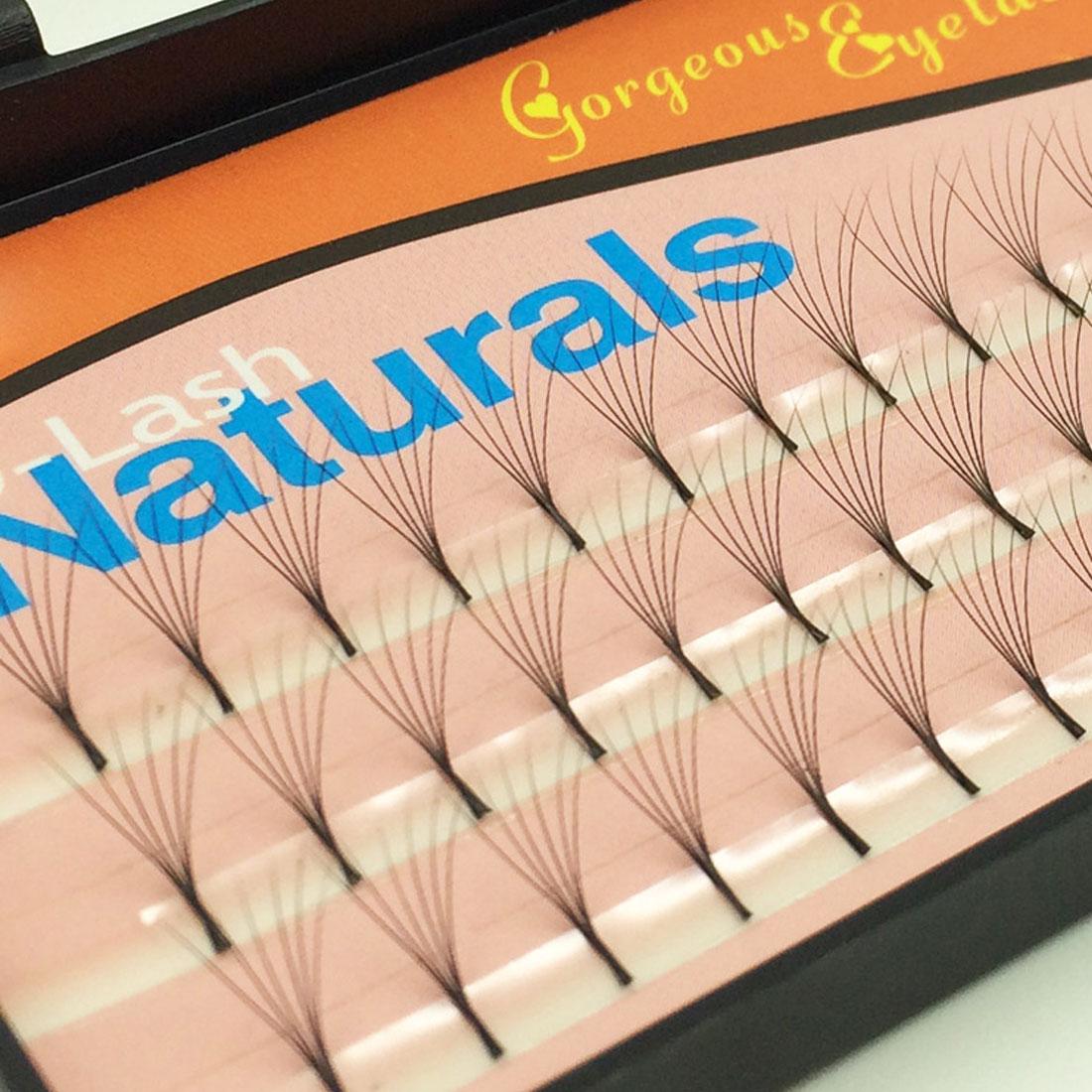 New Sale 60 Natural Long Black Individual False Eyelashes Eye Lash Extension Kit Soft 12mm 10mm 8mm Selection