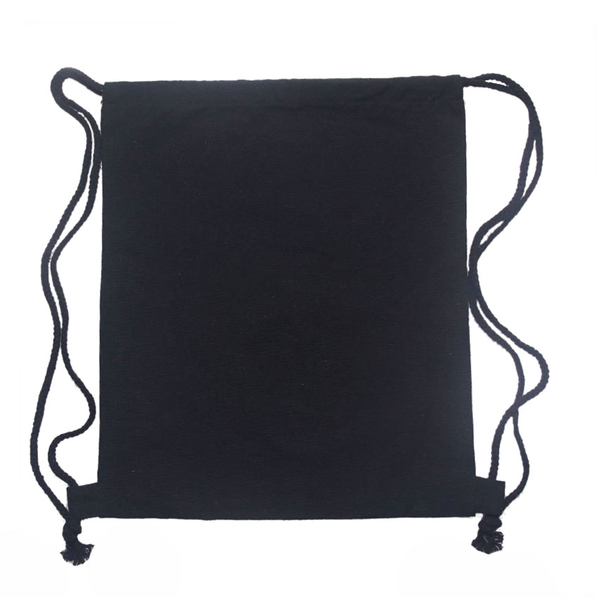 10pcs Lot Blank Canvas Drawstring Bag White Black 12oz Draw String Backpack Diy Cinch Bags Whole Lots In Backpacks From Luggage On