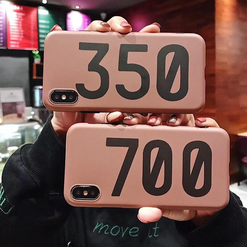 De Lujo Kanye Omari oeste BOOST 350 700 V2 funda de silicona suave carcasa para iPhone 6 s 6 más 7 7plus 8 8X10 XR XS Max teléfono coque