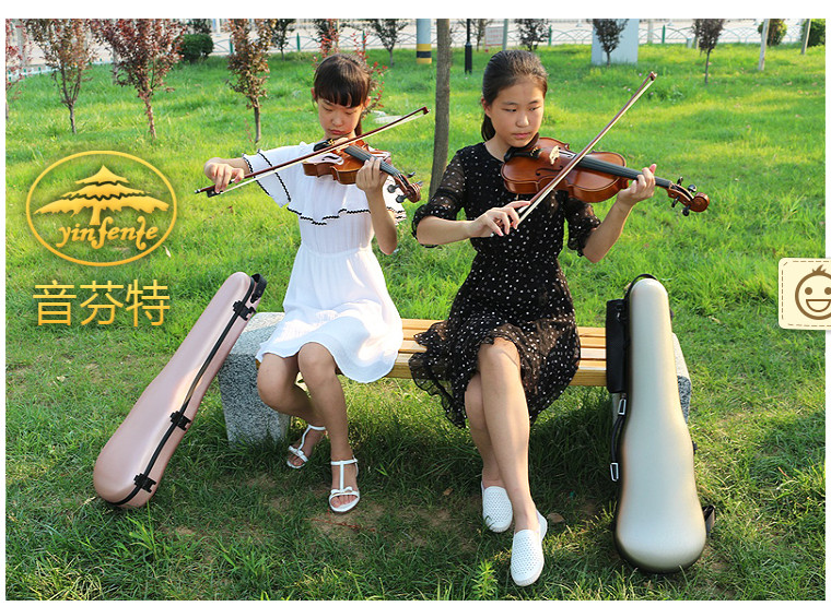 Синий 4/4 чехол для скрипки золотой цвет кодовый замок карбоновый квадратный чехол Yinfente
