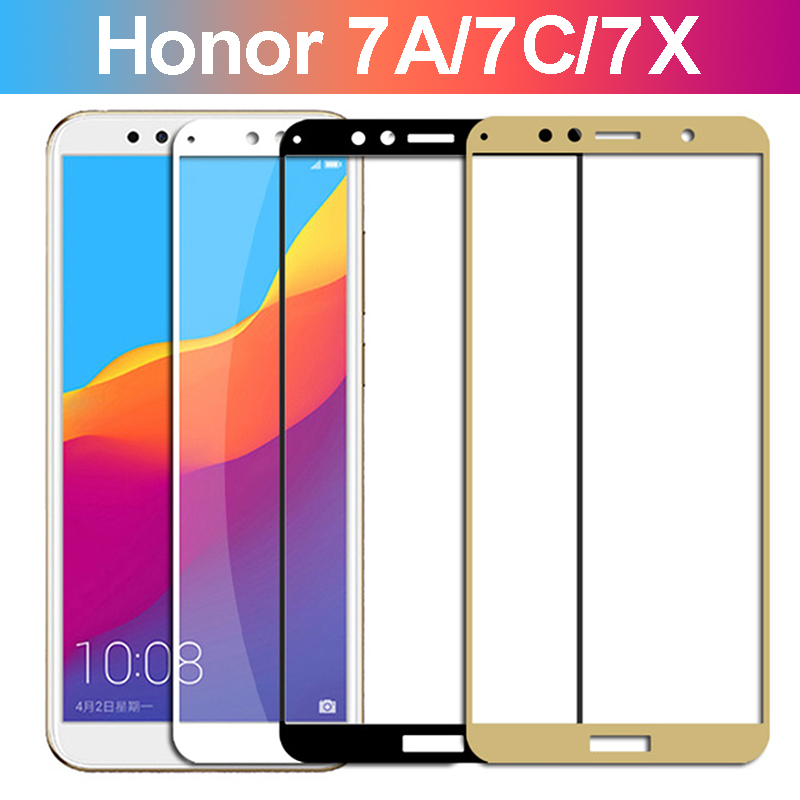 protective <font><b>glass</b></font> for <font><b>honor</b></font> 7c pro screen protector for <font><b>huawei</b></font> <font><b>honor</b></font> 7a 7x tempered glas on honor7a honor7c honor7x <font><b>7</b></font> a film image