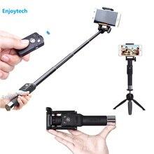 6 ミニbluetooth s selfieスティックでミニ三脚16.5-69.5センチ拡張可能一脚用huawei社サムスンiphone