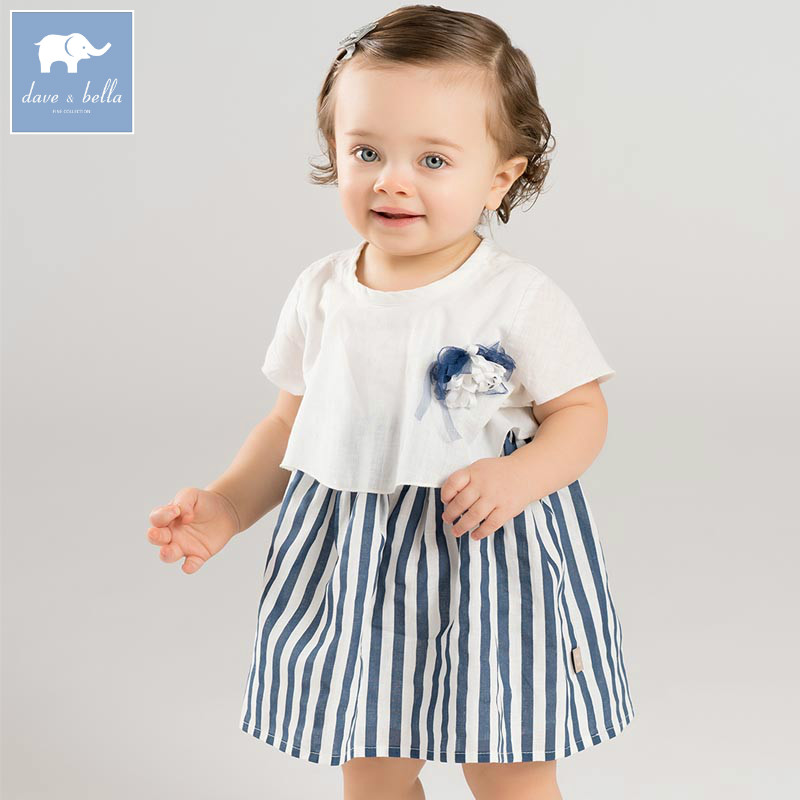 ab6f0788abb DB7577 dave bella baby girls infant toddler dress children birthday party  clothes kids summer Lolita dress