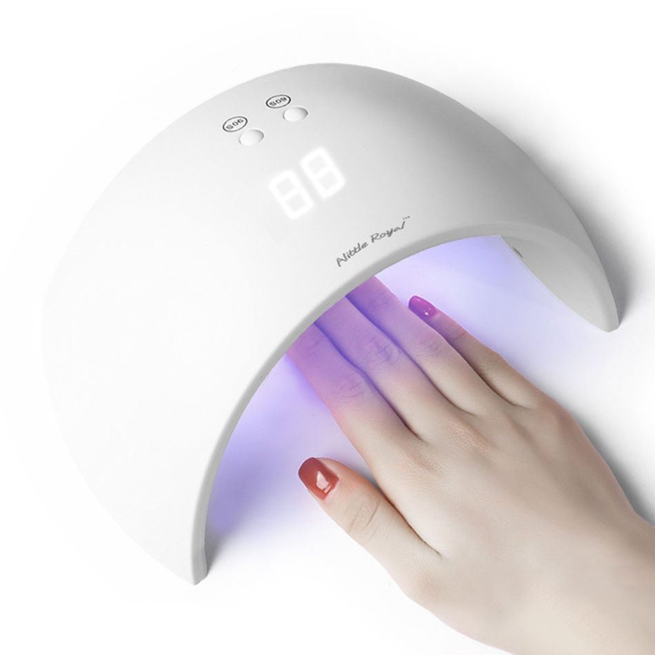 New 27W UV LED light Nail Dryer Gel Nails Lamp Drying Machine for Nail Polish Gel Varnish with Invisible Digital Timer 30s/60s