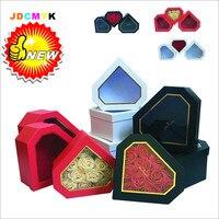 3 stks/set diamant vorm PVC Transparante flowrist verpakking bloemen geschenkdoos, weddiing party decoratie doos Valentijnsdag geschenkdoos