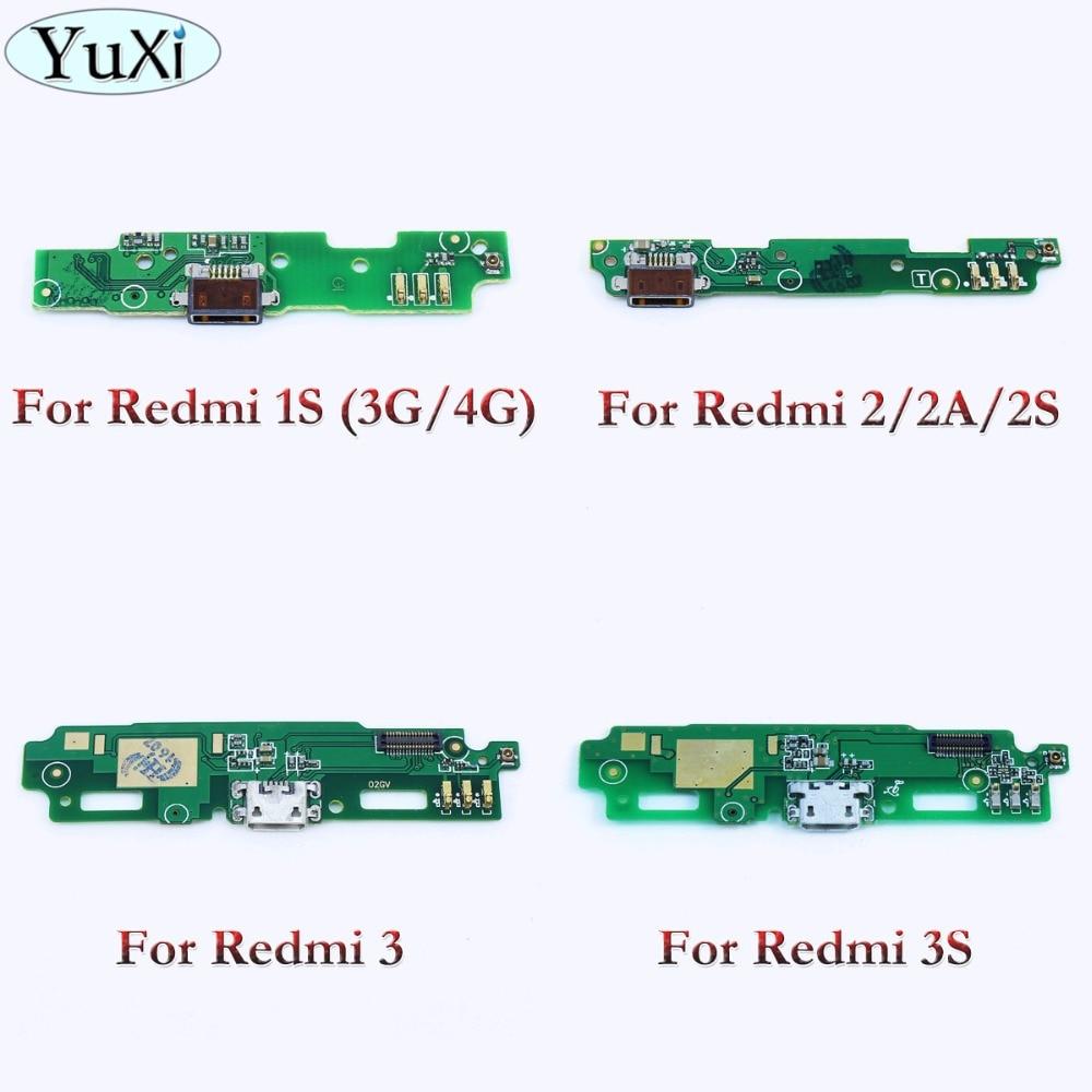 YuXi 1pcs Microphone Module+USB Charging Port Board Flex Cable Connector Parts For Xiaomi Redmi 1S 2 2A 2S 3 3S /Redmi3 Redmi 2