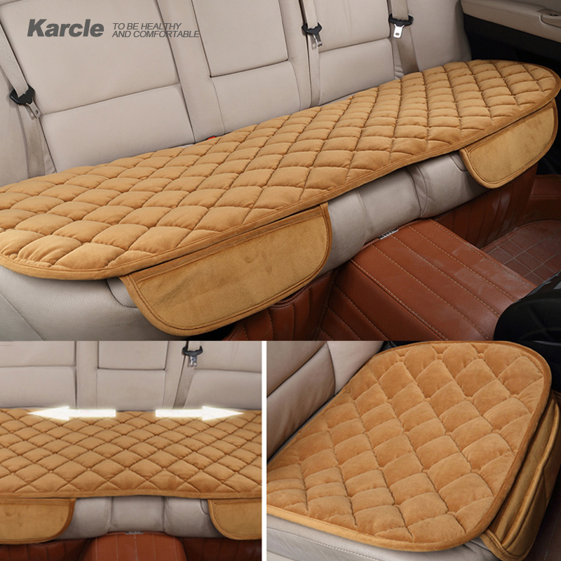 Karcle 1PCS Universal Plush Car Seat Covers Protector Driver Chair Pad Car-styling Front Back Seat Cushion Auto Accessories