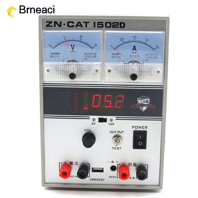 Brneaci 15V 2A DC power supply Power Cable Digital Mobile Phone Repair Power <font><b>1502D</b></font> image