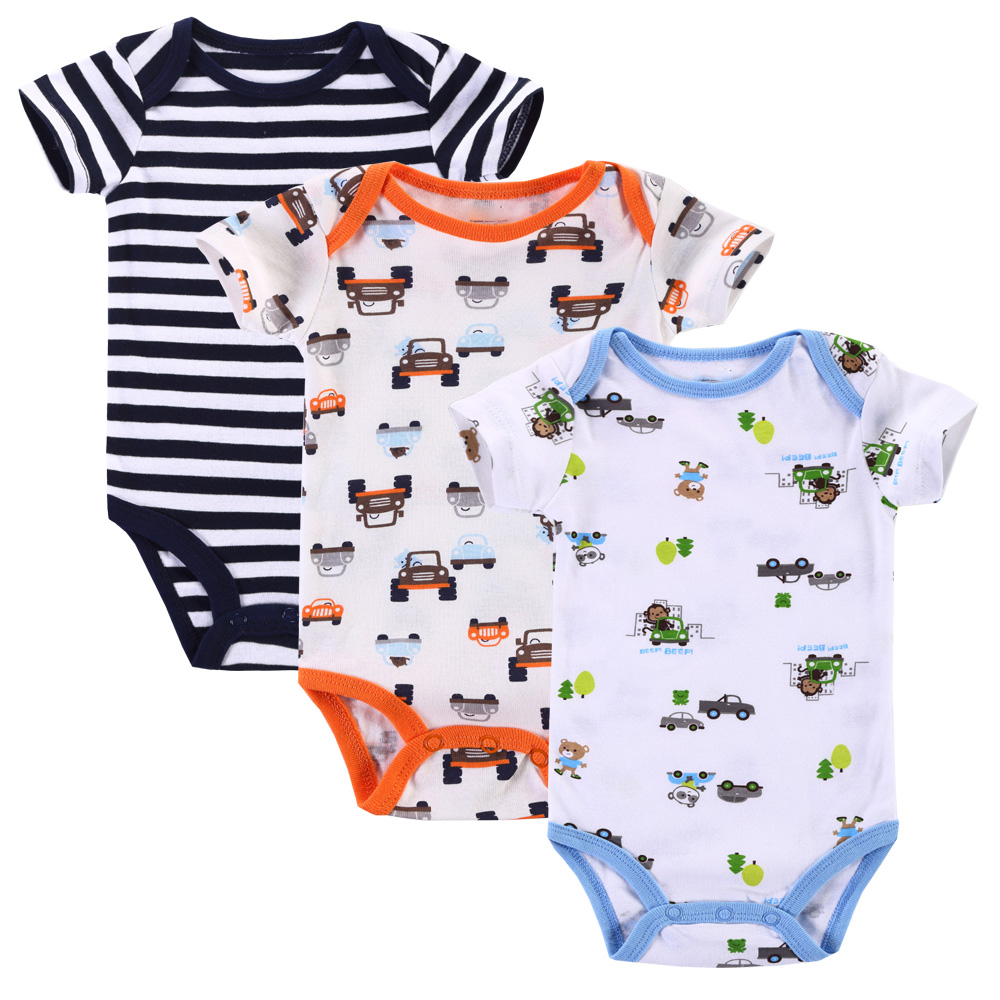 b4b80fd3f21e high quality 4da7d a4a13 3pcslot baby rompers short sleeve baby boy ...