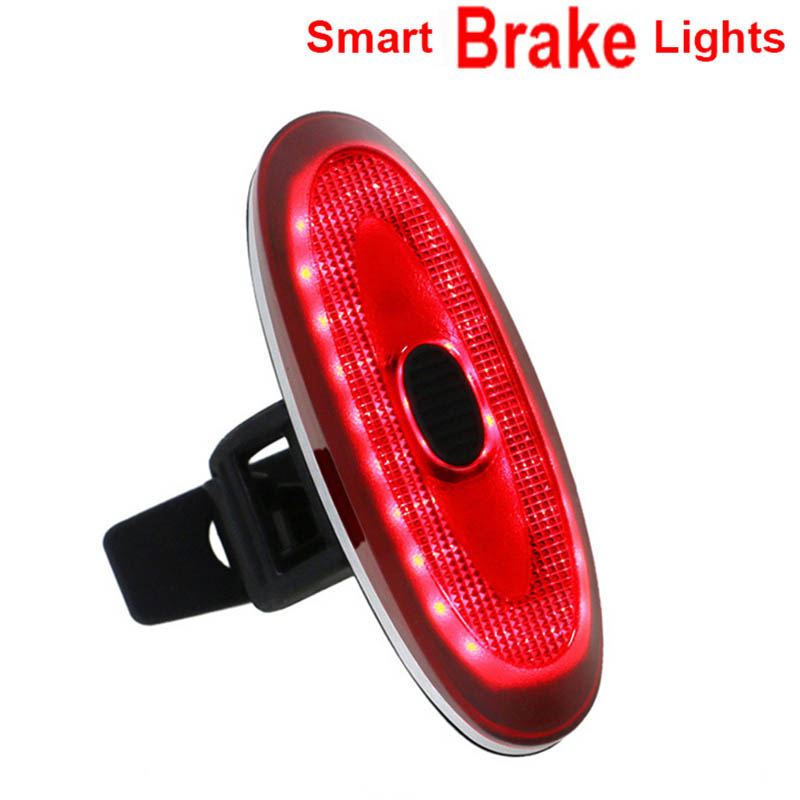 USB Bike Rear Light smart Bicycle Brake Safe Lights Rechargeable taillight Cycling Rechargeable led lamp gaciron v9d cycling front lights bike cree l2 led usb rechargeable bicycle lights with w05 rear light taillight