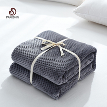 Parkshin Fashion Soft Flannel Pineapple Blanket Aircraft Sofa Office Adult Blanket Car Travel Warm Throw Blanket For Couch