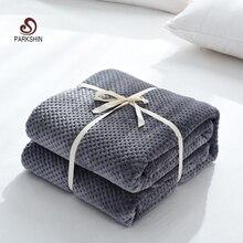 Parkshin de moda suave de franela de piña manta de avión sofá de oficina manta para adultos de viaje manta de tiro caliente para sofá