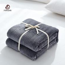 Parkshin אופנה רך אננס פלנל שמיכת מטוסי ספה במשרד למבוגרים שמיכת רכב נסיעות חם לזרוק שמיכת ספה