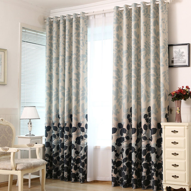 blackout curtains for living room bedroom chinese style polyester rideaux pour le salon modern. Black Bedroom Furniture Sets. Home Design Ideas
