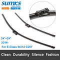 "Wiper blades for Mercedes Benz E-Class W212 / C207 ( 2014 onwards ) 24""+24"" fit push button type wiper arms only  HY-011"