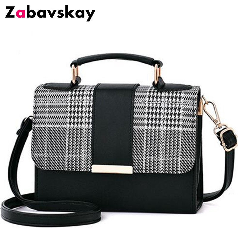 2018 new brand women plaid totes hotsale hasp cover small flap single handbag lady party messenger crossbody shoulder bag DJZ382 vintage casual sequined totes small shell handbag hotsale women coin purses ladies party clutch shoulder messenger crossbody bag
