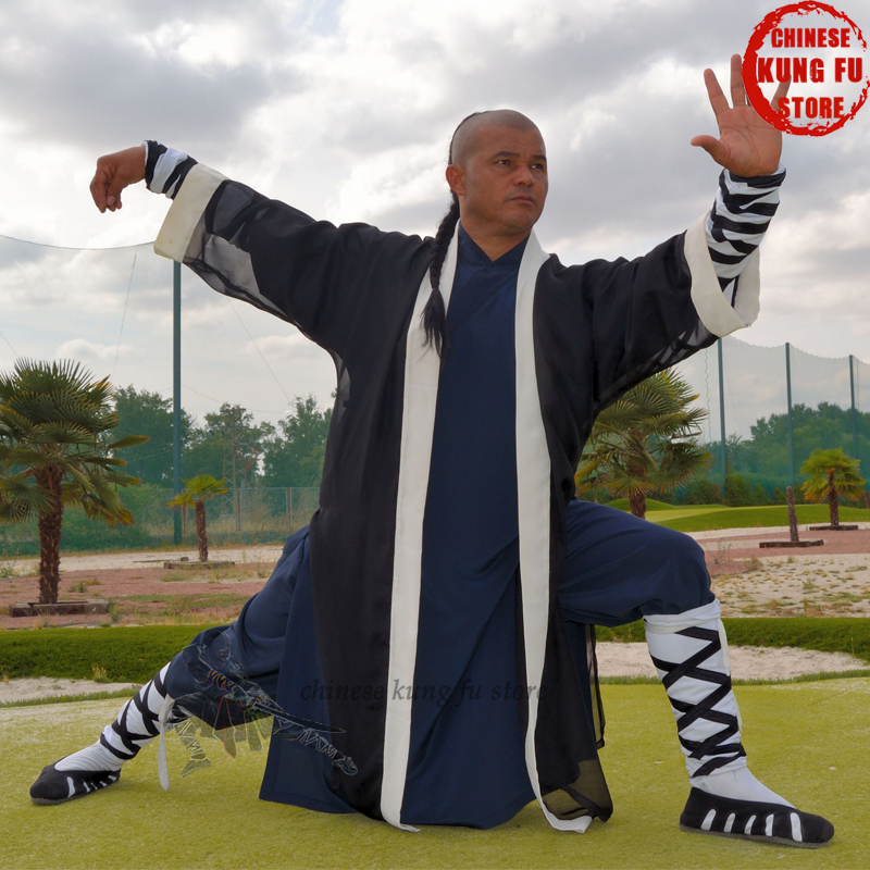 Traditional Chinese Wudang Taoist Kung Fu Suit Shaolin Monk Tai Chi Uniform Wing Chun Robe