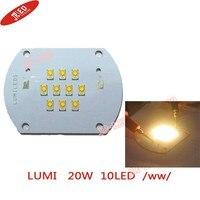 Free Shipping 2pcs 20W LUMILEDS Led Emitter Bulb Warm White Color Light DIY Emitter 20 25V