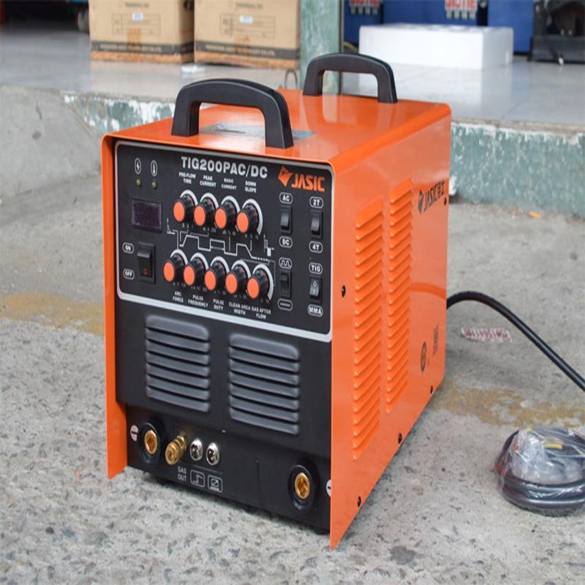 цена на High Quality JASIC WSE-200P TIG200P spot welder TIG/MMA Square Wave Pulse Inverter Welder 220-240V aluminum welding machine