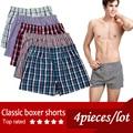 bragas masculinas 100% boxeadores algodón cómoda transpirable bragas bragas para hombres ropa interior pantalones cortos bóxer marca