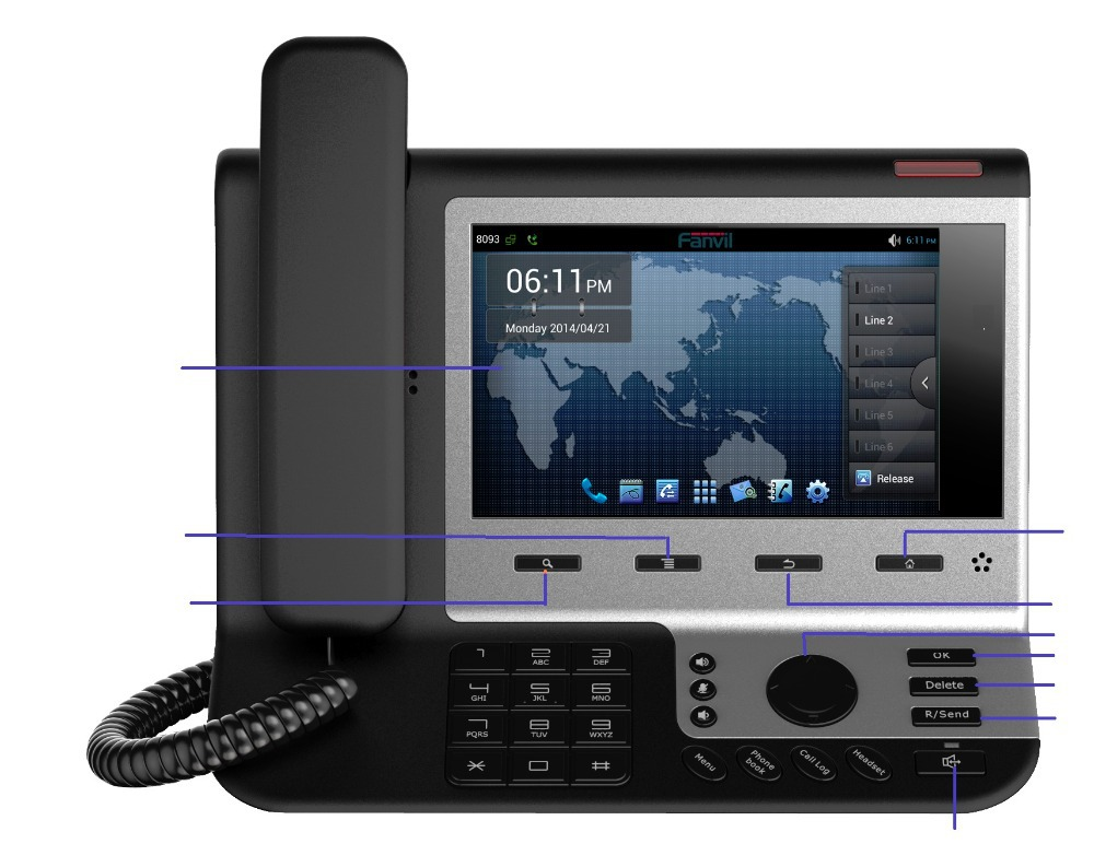Phone Voip Phone Android aliexpress com buy 2015 new promotion landline phone 7 tft touch screen android voip video conference suppo
