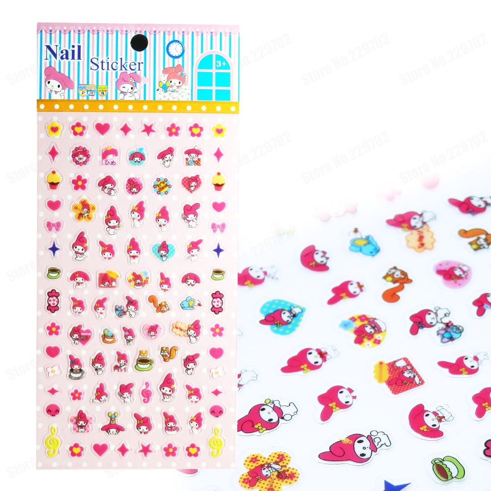 Children My Melody Nail Sticker Pvc Art Stickers Decals Kids Gift Decoration In Hair Clips Pins From Beauty Health On Aliexpress