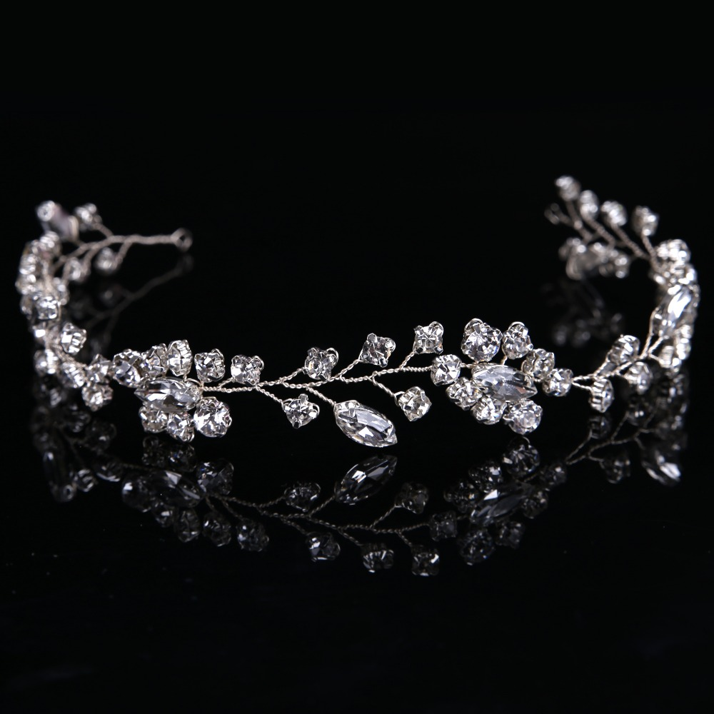2017 Newest Gorgeous Bride Tiara Hairbands Fashion Women Crystal Glass Hairbands Romantic Crowns Accessory CY161117-92
