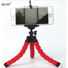 цена BEXIN Mini Flexible Camera Phone Hold gorillapod sponge octopus tripod for mobile phone for Gopro mini tripod stativ for phone онлайн в 2017 году
