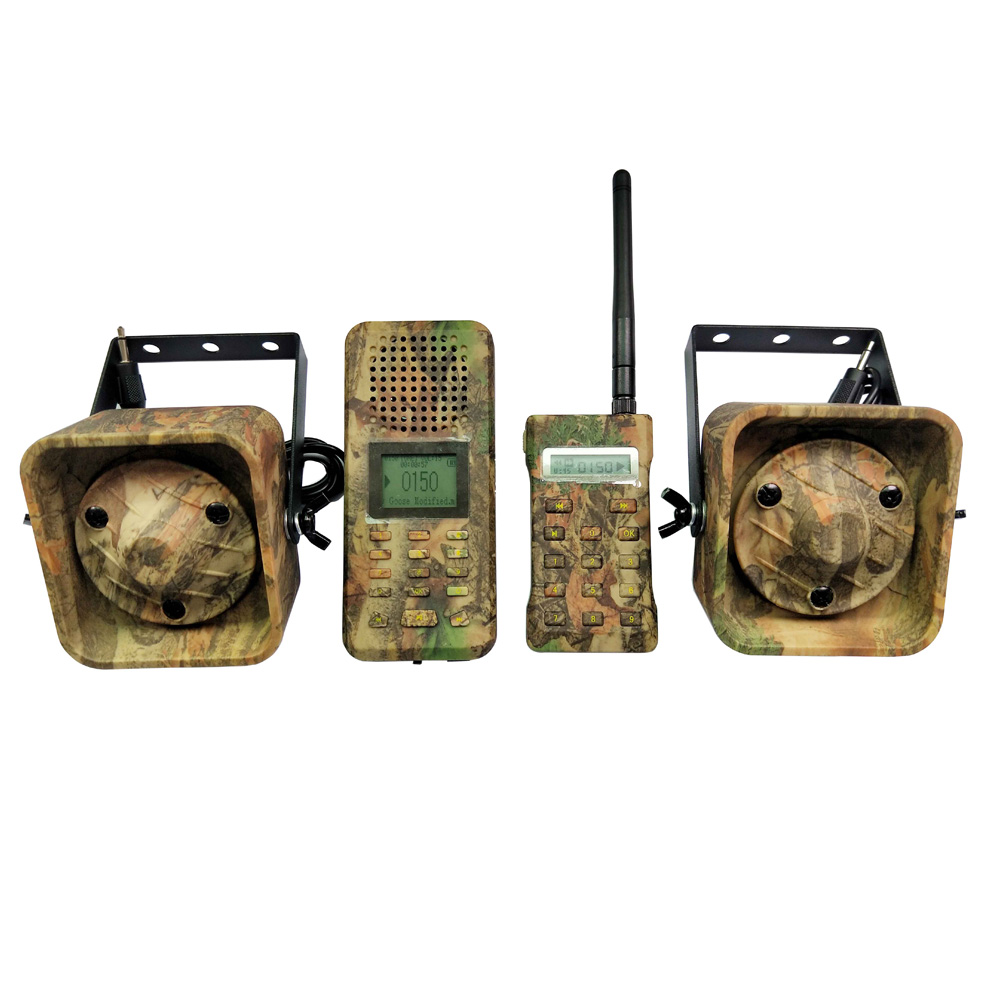 Camouflage oiseau appelant télécommande 2 pièces 50 w 150dB haut-parleur oiseaux lecteur MP3 amplificateur oie canard chasse leurre
