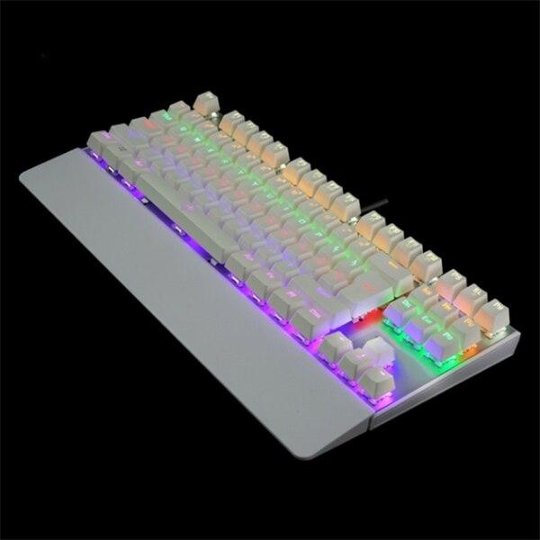 HOT Gaming Mechanical Keyboard Backlit USB Wired 26 Keys Anti-ghosting Game Keyboard BUS66