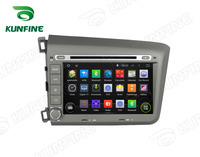 Quad Core1024 * 600 Android 5.1 Car DVD Player de Navegação GPS Som Do Carro para Honda Civic 2012 Rádio Bluetooth 3G Wi-fi Bluetooth