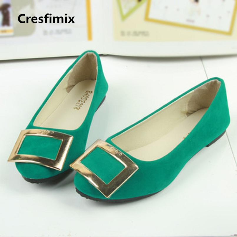 Cresfimix women fashion comfortable green slip on flat shoes lady spring & summer cool flats zapatos de mujer cute shoes a726 cresfimix zapatos de mujer women fashion black office flat shoes lady leisure spring and summer slip on flats female cute shoes