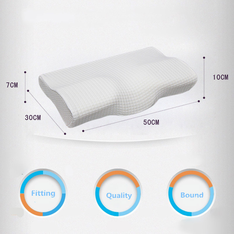 Memory Foam Pillow 4 Colors Orthopedic Pillow Latex Neck Pillow Fiber Slow Rebound Soft Pillow Cervical Health Care 2019 New in Decorative Pillows from Home Garden