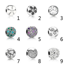 4ac0de647 ... Authentic 925 Sterling Silver Enamel Mystic Floral Daisies With Crystal  Clip Bead Charms Fit Pandora Bracelet Mystic Floral with Clear CZ Black ...