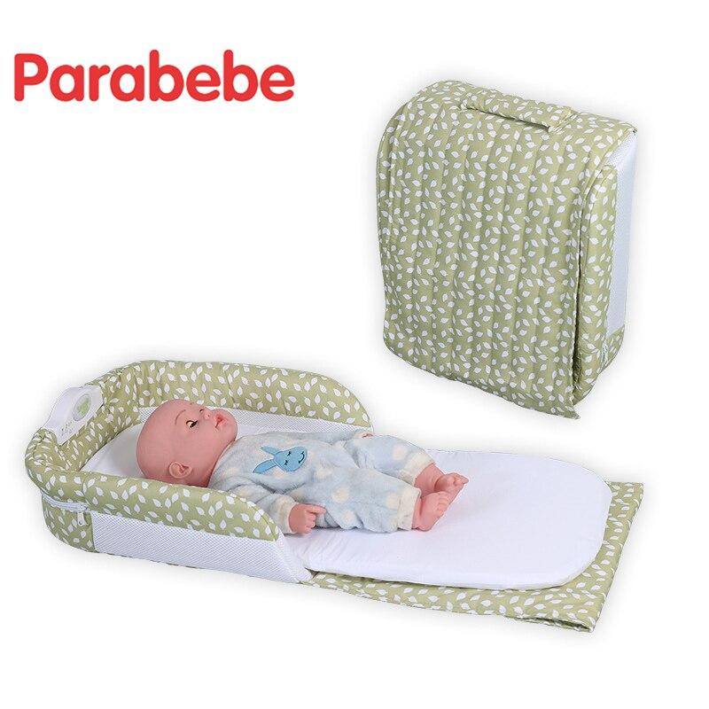 Lit de voyage pliable berceau pour nouveau-né berceau Portable enfants lit pour bébé enfants dormir voyage lit pliant bébé berceau - 2