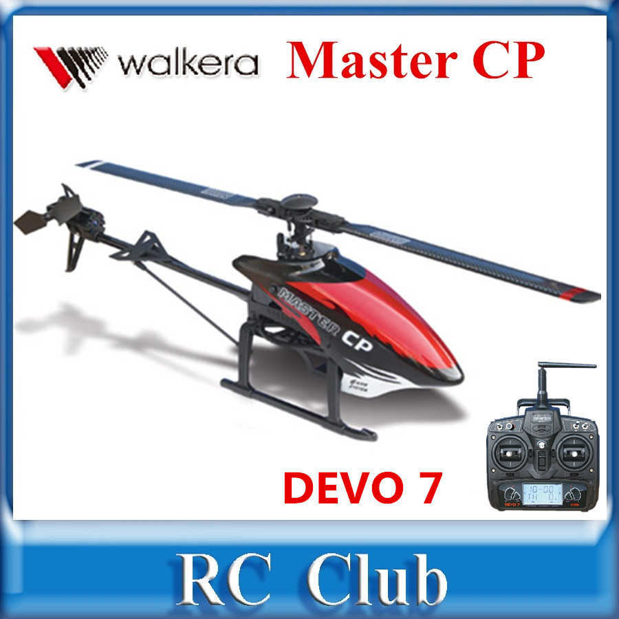Original Walkera Master CP with DEVO 7 Transmitter 6-Axis-Gyro Mini 6CH 3D Flybarless RC Helicopter RTF original walkera devo f12e fpv 12ch rc transimitter 5 8g 32ch telemetry with lcd screen for walkera tali h500 muticopter drone