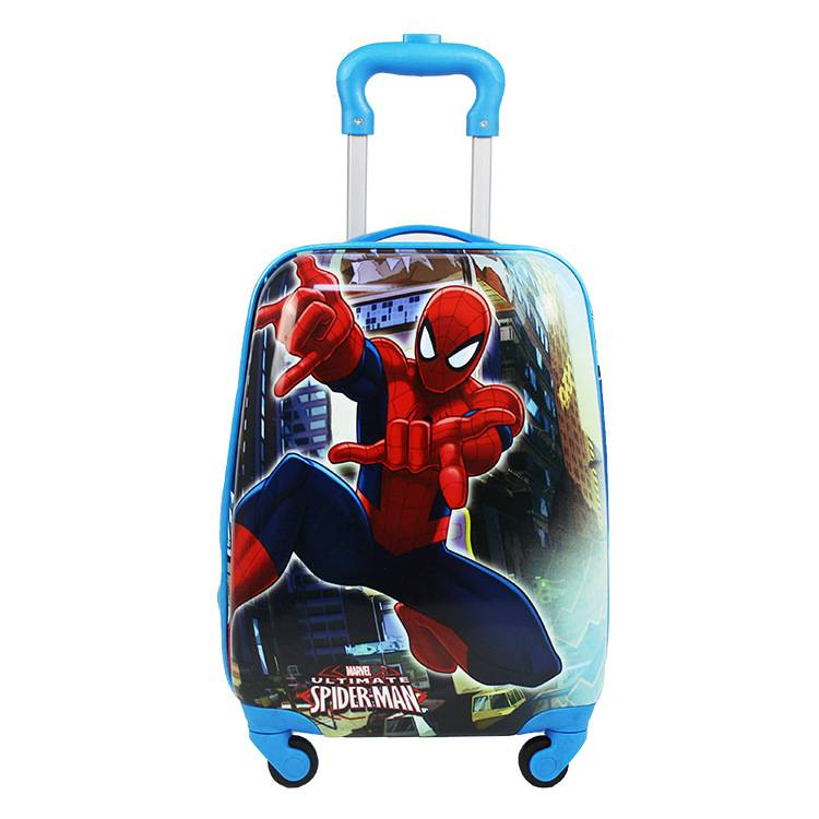 Manufacturers selling 18 inch Pvc cute cartoon children pull rod box universal wheel luggage suitcase students pull rod box anim