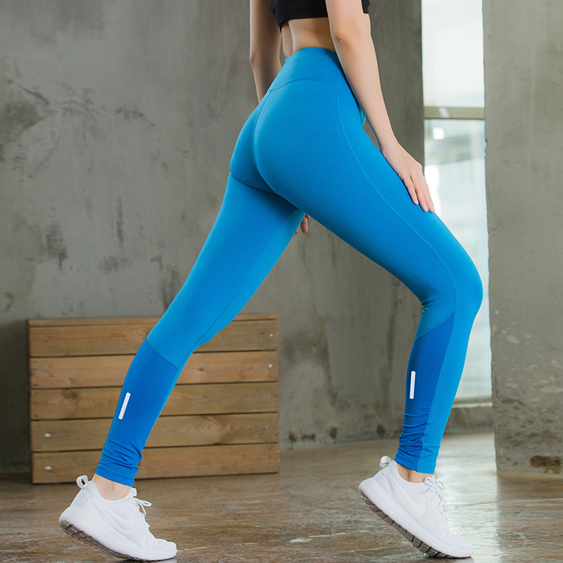 2017 Summer New Fitness Tight Sport Trouser Reflector Quick Dry Running Pants Gym Clothing Yoga Pant Women Compression Legging
