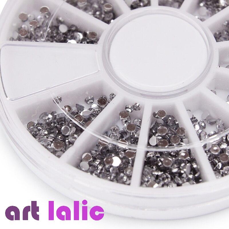 2000 Pcs 1.5mm Round Glitter Nail Art Rhinestones nail decoration Clear Transparent Glitter Rhinestones Decoration Wheel сенсорные купить до 2000 грн