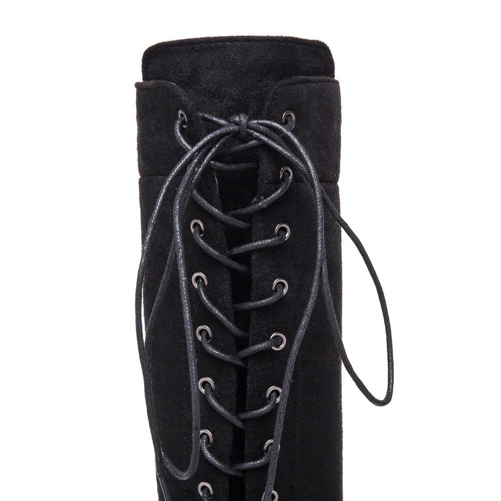 Tener Frauen La Zapatos Flock Elegante Baoaili Botas Vale Gratis Negro Pena 3l50 Mujeres Caliente Venta Mujer Moda Envío Stiefel Modo 7vvdw6q