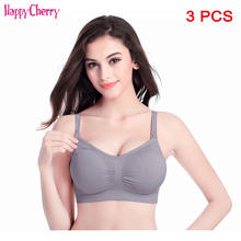 3 pcs/ lot Cotton Padded Maternity Bra Women Nursing Pregnant Breastfeeding Mother Clothes Wire Free Sleep