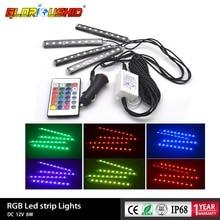 12 В салона света RGB светодиодные ленты огни цвета декоративный дизайн автомобиля атмосферу торшеры с беспроводной Дистанционное управление