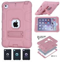 For Coque IPad Mini Case 3 In 1 Hybrid High Impact Heavy Duty Hard Rugged Rubber