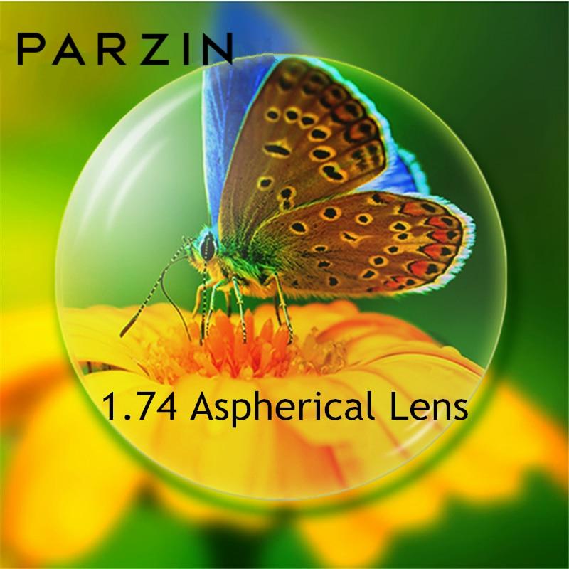 PARZIN asphérique 1.74 lentille pour myopie lunettes qualité Ultra-léger lentille Prescription lunettes lentilles 2PC accessoires lunettes
