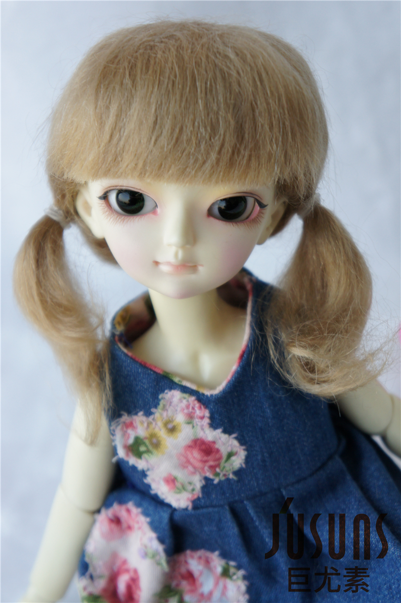 1/6  BJD wigs The PP braid mohair doll wig  6-7inch Lati green doll accessories Toy hair